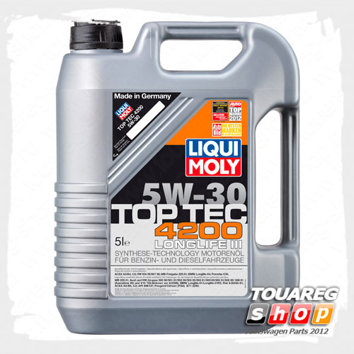 Масло моторное LIQUI MOLY Top Tec 4200 (504.00/507.00) 5W30 (5 л.)