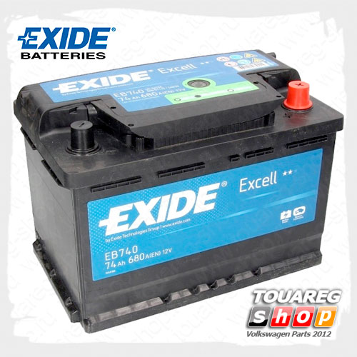 Аккумуляторная батарея Exide Excell (74AH/680A) EB740