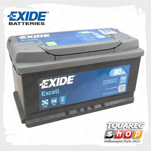 Аккумуляторная батарея Exide Excell (80AH/700A) EB802