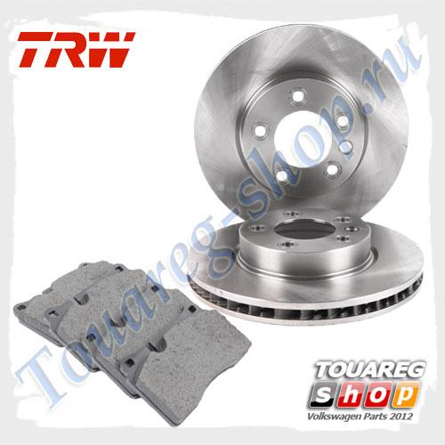 Комплект передних тормозных дисков с колодками Trw 1798023