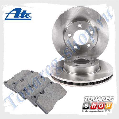 Комплект передних тормозных дисков с колодками Ate 1798024