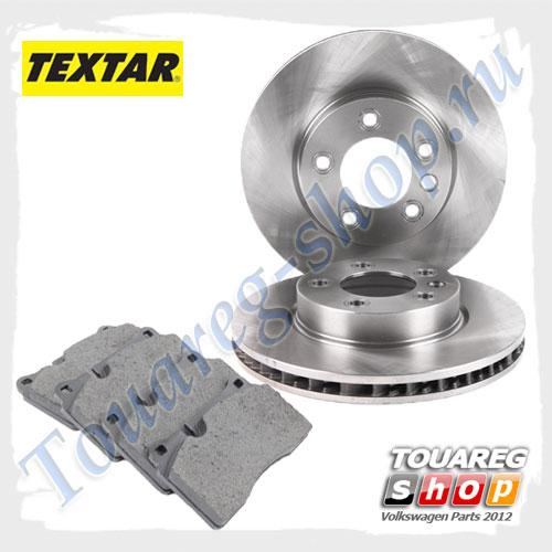 Комплект передних тормозных дисков с колодками Textar 1798025